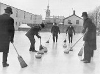 Old-time Canadian curlers