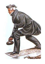 Image of a curler in traditional garb.